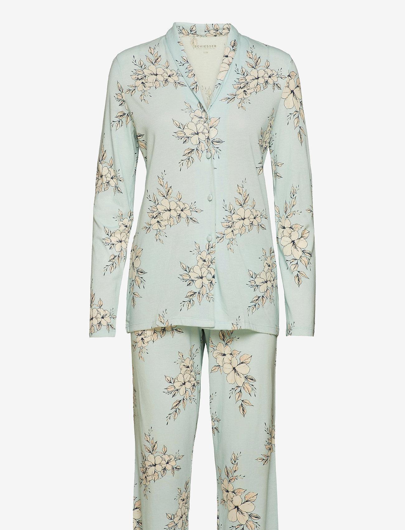 Schiesser - Pyjama Long - pyjama''s - mint green - 0
