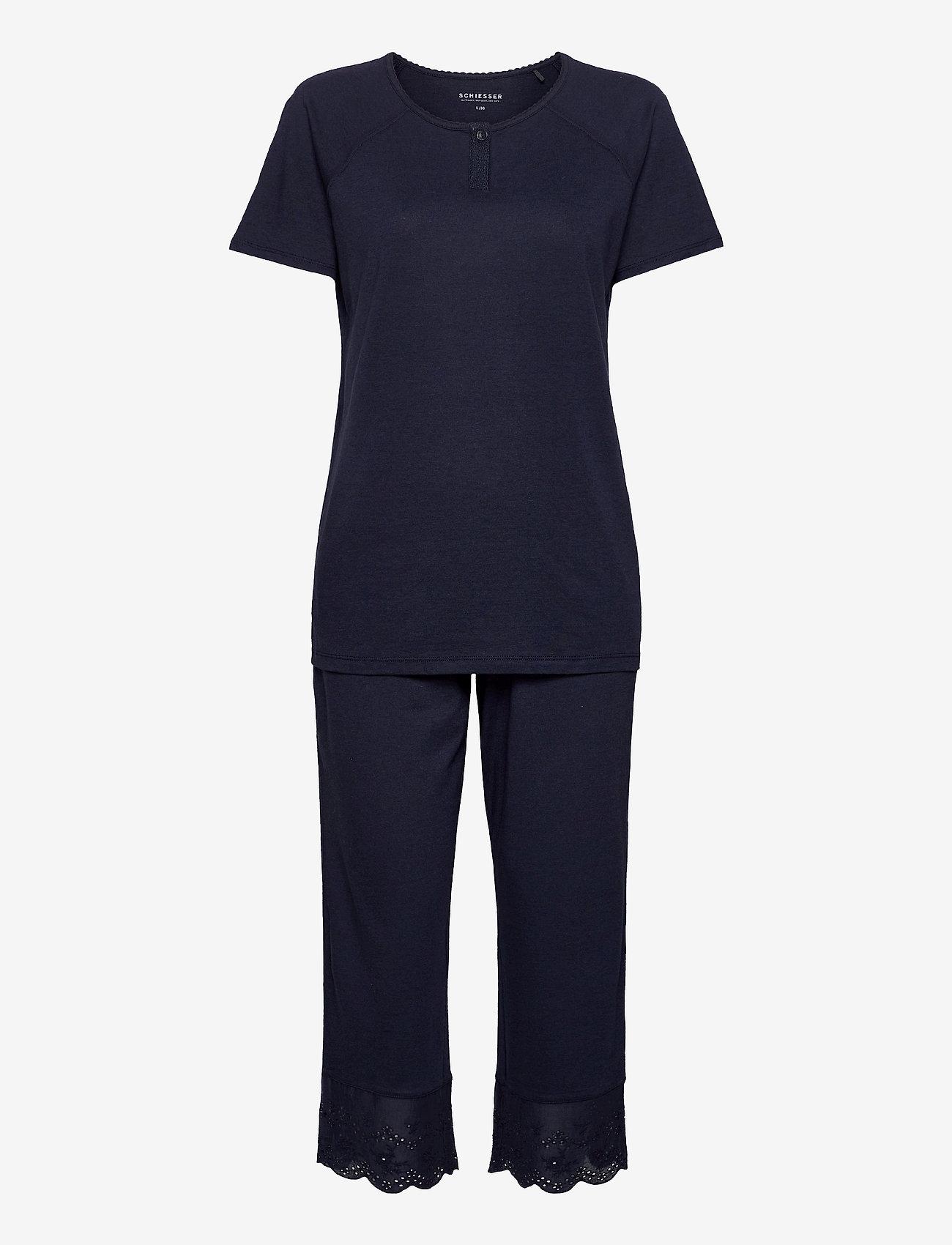 Schiesser - Pyjamas 3/4 - pyjama''s - nightblue - 0