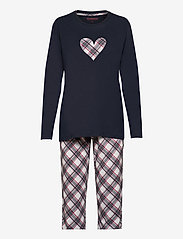 Schiesser - Pyjama Long - pyjama''s - dark blue - 0
