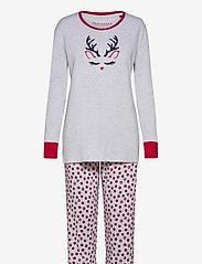 Schiesser - Pyjama Long - pyjama''s - grey melange - 0