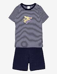 Schiesser - Boys Pyjama Short - sets - dark blue - 0