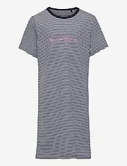 Schiesser - Nightshirt 1/1 - nachthemden - blue - 0