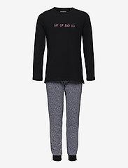 Schiesser - Girls Pyjama Long - sets - black - 0