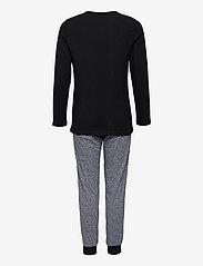Schiesser - Girls Pyjama Long - sets - black - 1
