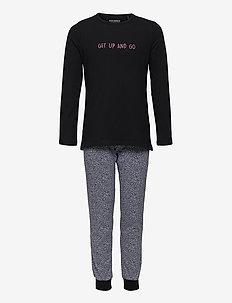 Girls Pyjama Long - sæt - black