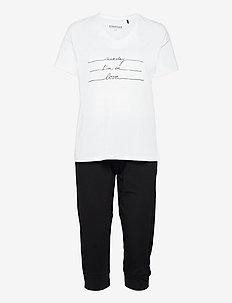 Pyjamas 3/4 - pyjama''s - black
