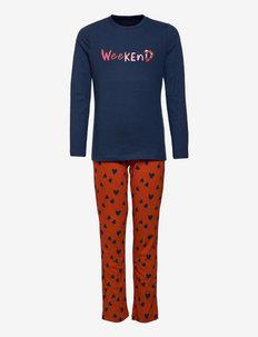 Girls Pyjama Long - sæt - blue