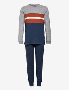 Boys Pyjama Long - sæt - blue