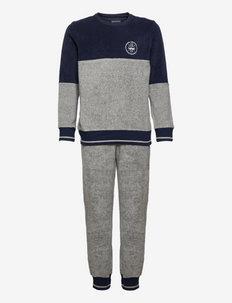 Boys Pyjama Long - sets - grey melange