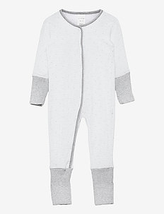 Romper with Footing - À manches longues - grey melange