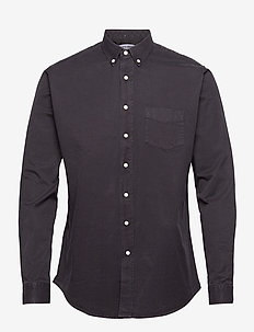 SHIRT OVERDYED ONE - linnen overhemden - black