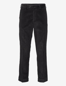 TAILORED CORD TROUSERS - tapered jeans - black