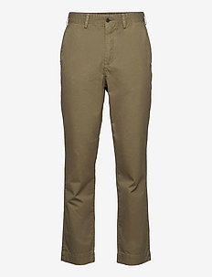 TROUSERS OVERDYED - tapered jeans - army green
