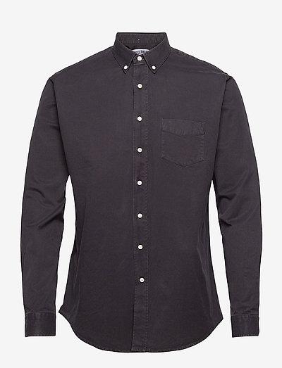 SHIRT OVERDYED ONE - chemises de lin - black