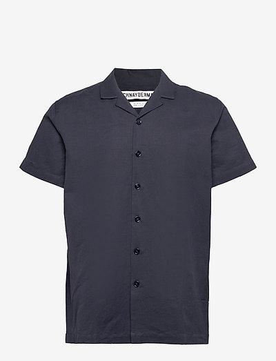 Shirt Notch SS Cotton Linen - oxford shirts - dark navy