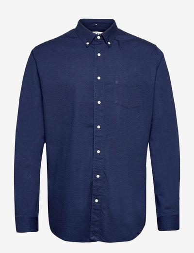 SHIRT BD DENIM - chemises de lin - indigo blue