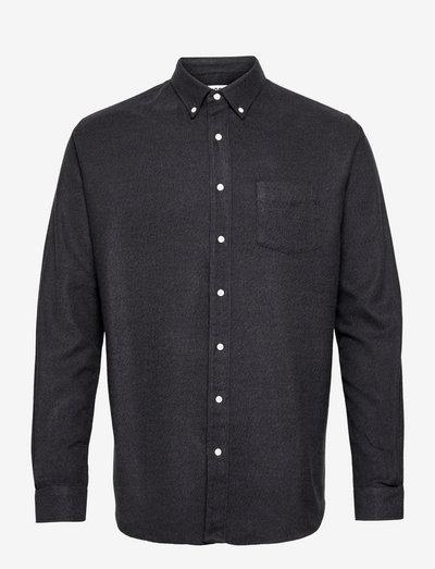 SHIRT BD FLANNEL MELANGE - chemises de lin - dark grey