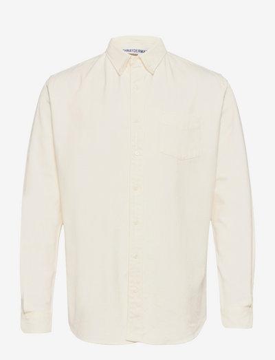 SHIRT BD HEAVY OXFORD FLANNEL - chemises de lin - white