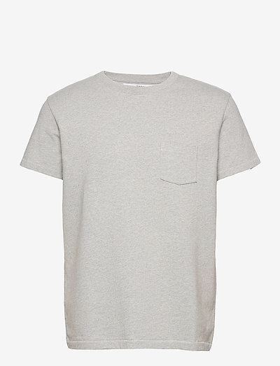 T-shirt Jersey Melange - kurzärmelig - grey