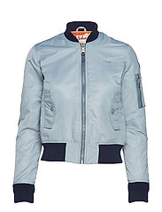 BOMBER JACKET - ICE BLUE