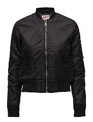 AC BOMBER JACKET WOMAN - BLACK