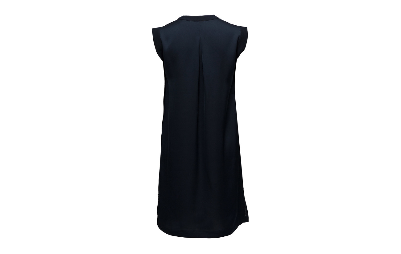 Silky Dress Soda amp; Scotch Sleeveless 100 Polyester Navy BwCtHxH