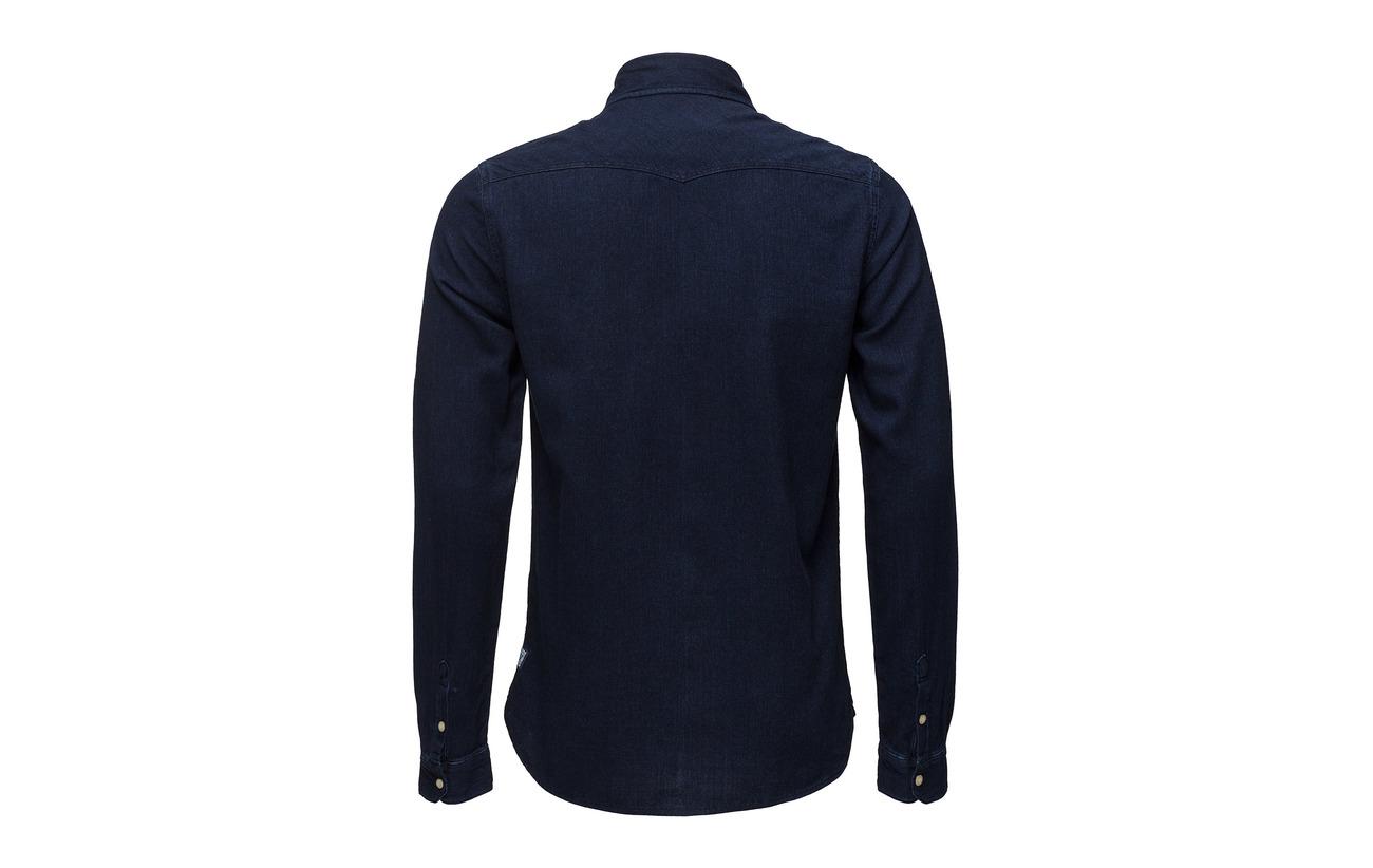 Ams Soda Blauw amp; Indigo Regular Fit Western Scotch Shirt AgwHxqEC