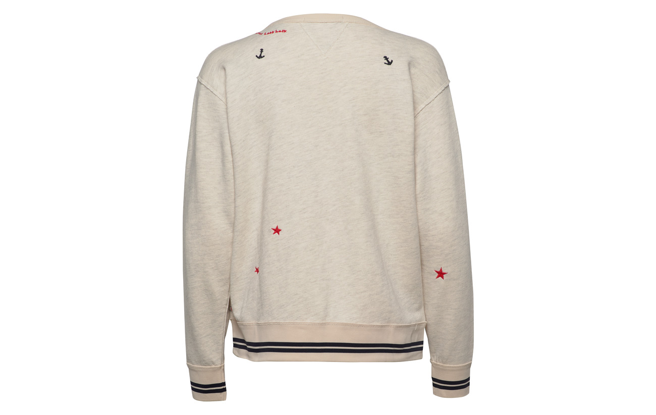 Vintage Small Scotch Melange With Soda Embroideries 0b Coton Ecru 75 amp; Sweat Polyester Inspired 25 qZTfp