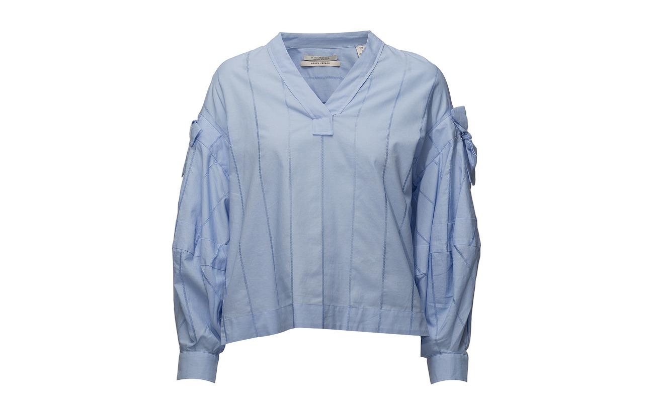 amp; Coton Top Blue Sky V Cotton neck Scotch Soda 100 dTxq1fpdz