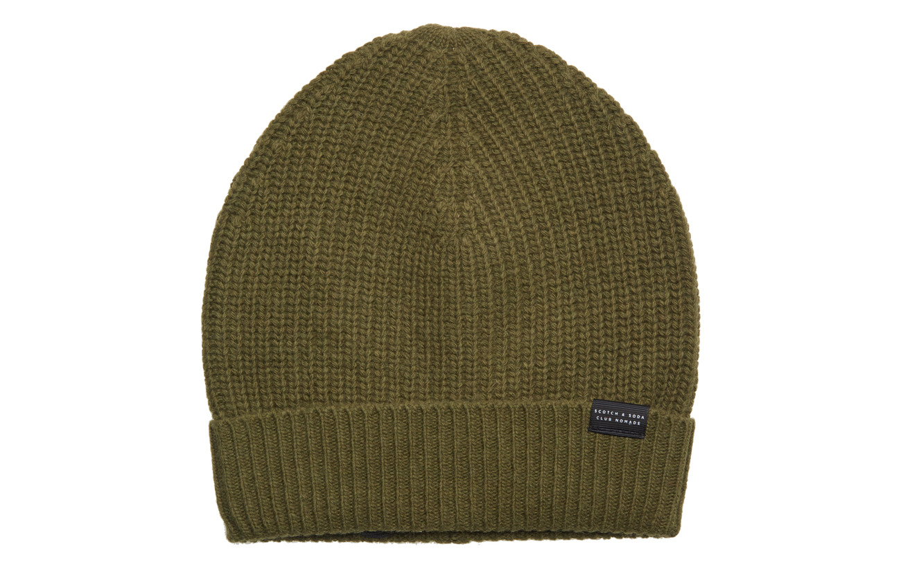 1a4d3279fa7d3 Club Nomade Beanie Hat In Luxury Cashmere Quality (Olive Green ...