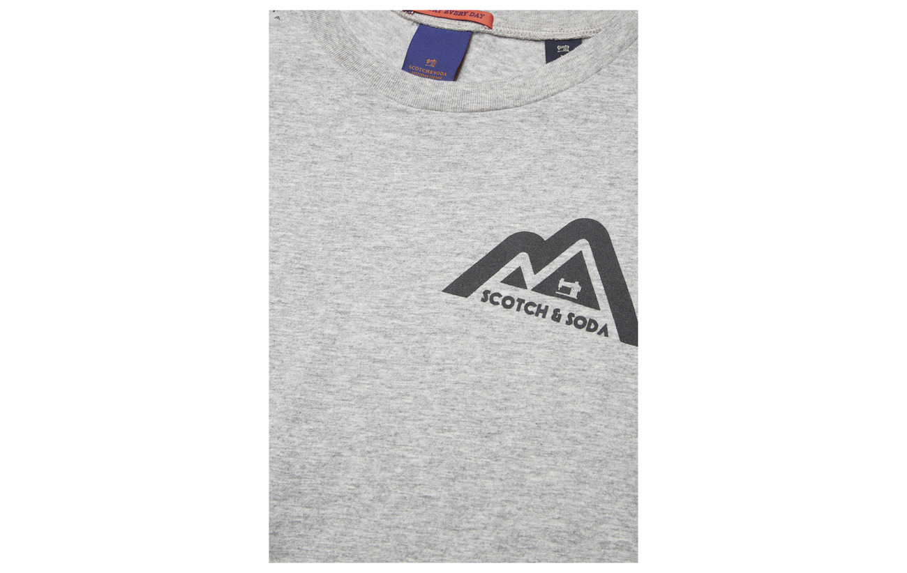 Scotch Logo Shortsleeve Chest Small Clean Grey With Tee Print Melange amp; Soda rZprf