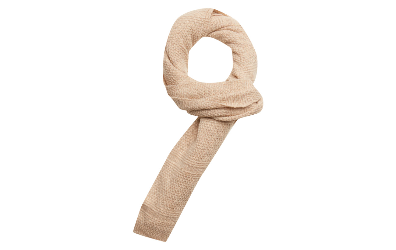 Scotch & Soda Classic wool scarf in structured knit - KIT MELANGE