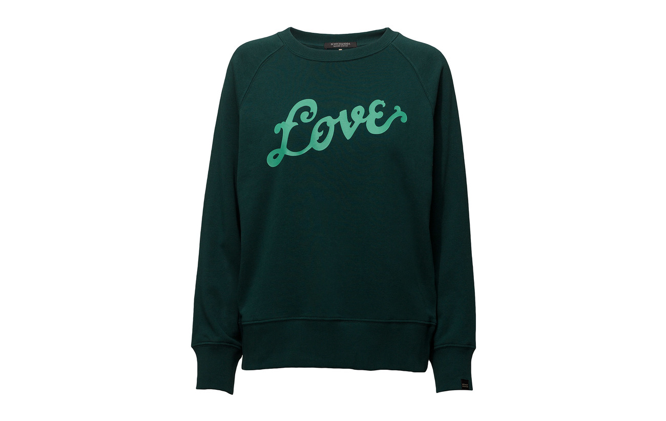 Artworks Scotch Soda Coton 15 With Neck Crew Polyester Bottle amp; Sweat Green 85 YYwqHr