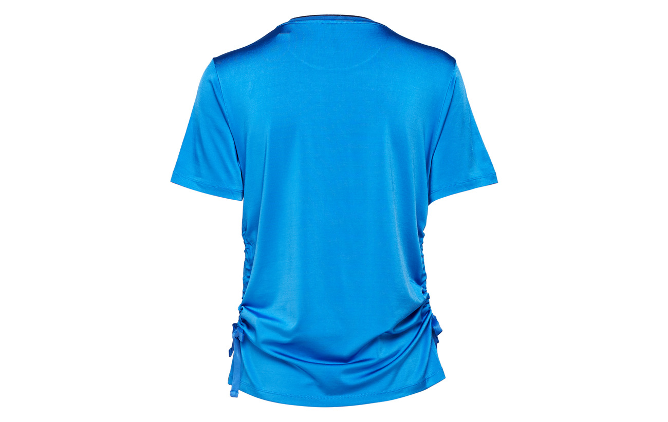 Tee Scotch amp; With Drawcord Detail Elastane At Short Blue 3 Sides 97 Viscose Mountain Sleeve Soda qfg1fwS