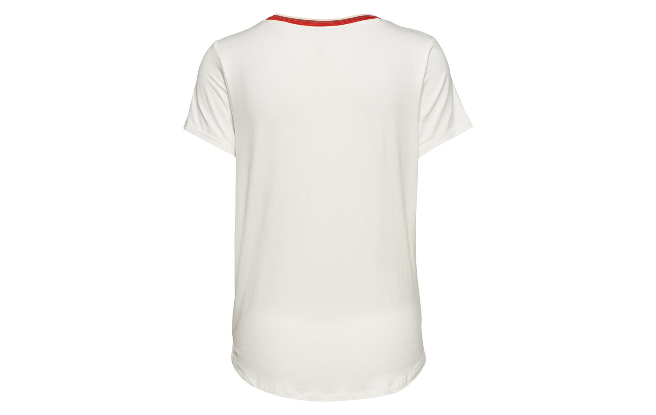 Regular Scotch amp; White Viscose Striped Tee Fit With 5 Tape 95 Soda Off Elastane Neck rqEcdq