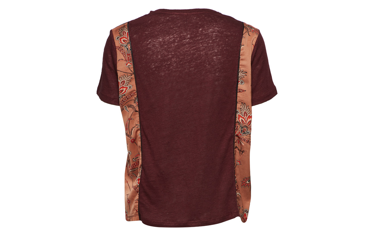 Back Polyester Top With Scotch 100 Print Soda Mixed M Combo amp; Jersey And Sleeves wwqOSI0