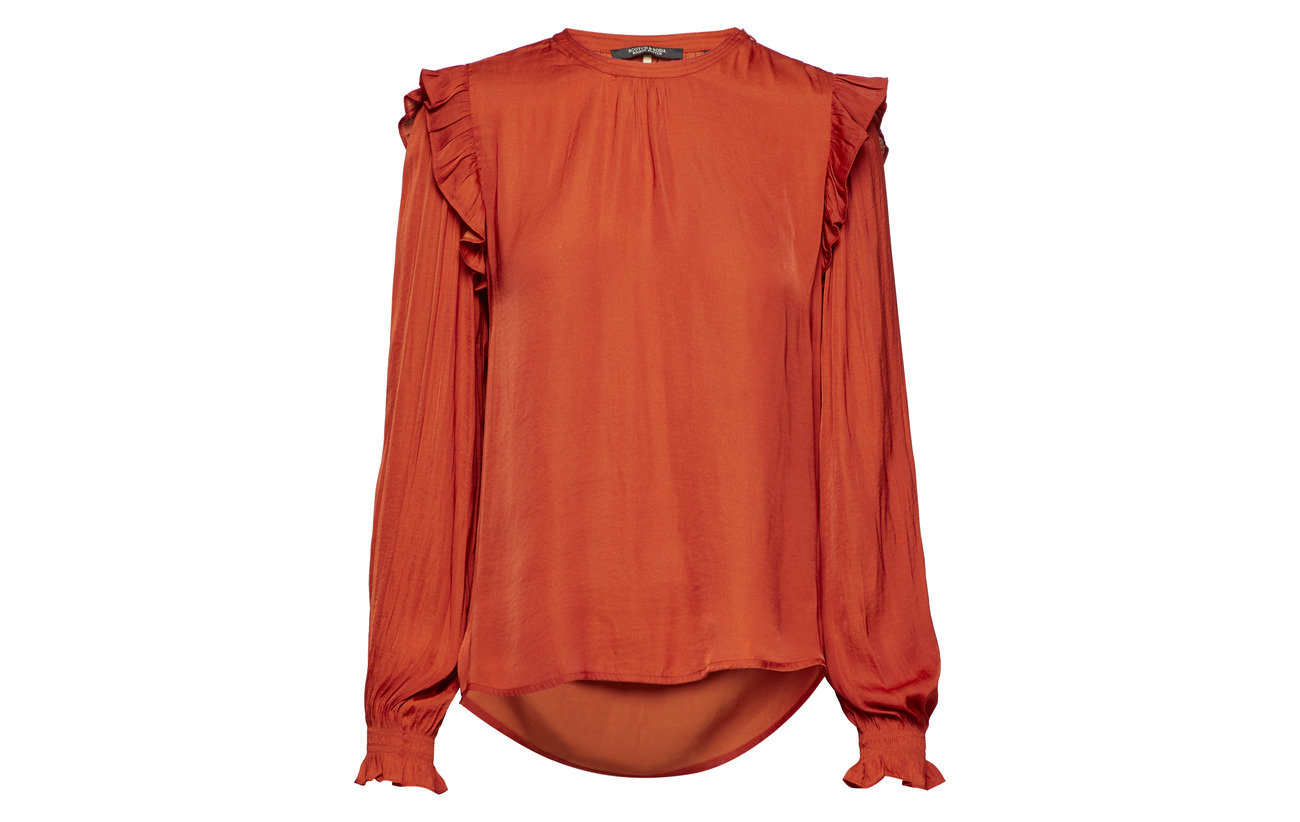 And Detail 100 Polyester Smock amp; Scotch Rust Top With Ruffles Soda qFx1XpOw