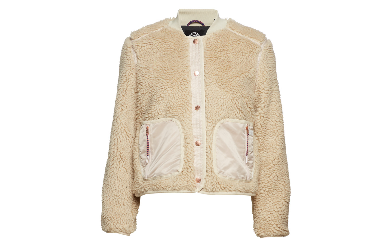 amp; Soda 100 Jacket Scotch Teddy Polyester Ecru dRTaqxqw