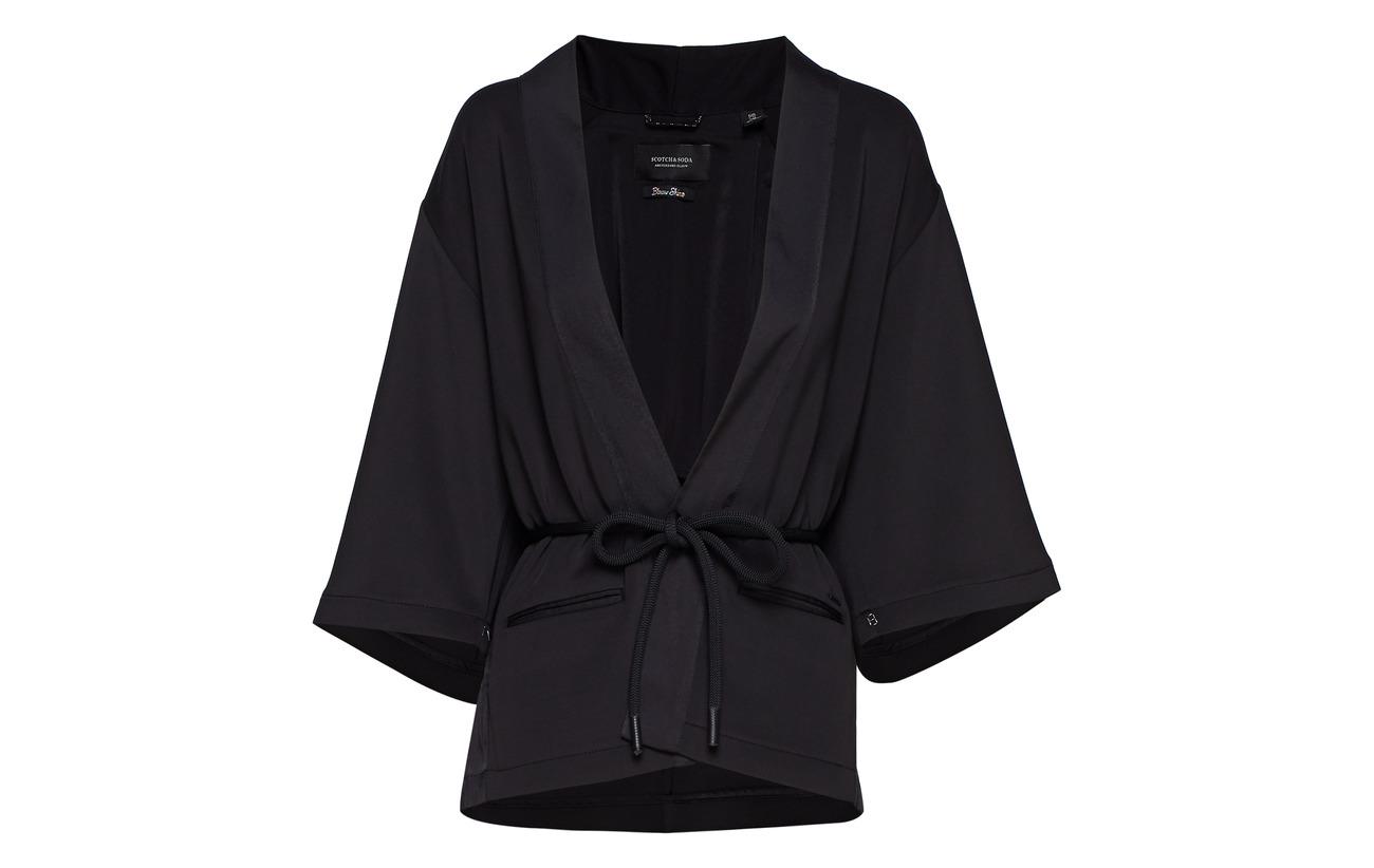 amp; Polyester 14 Blazer Black 86 Scotch Elastane Sweat Soda 7PnWdxd