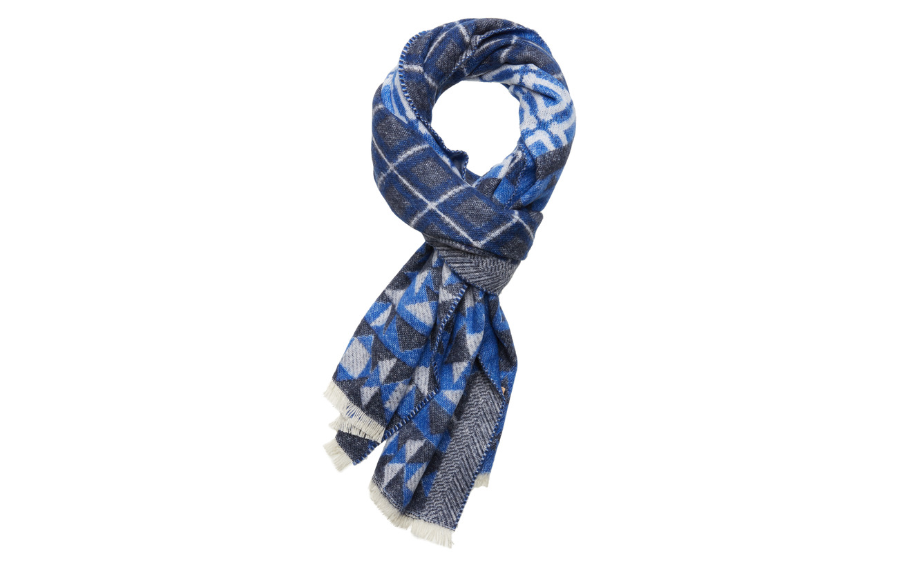 Scotch & Soda Woven wool-blend scarf in mix and match patterns - COMBO B