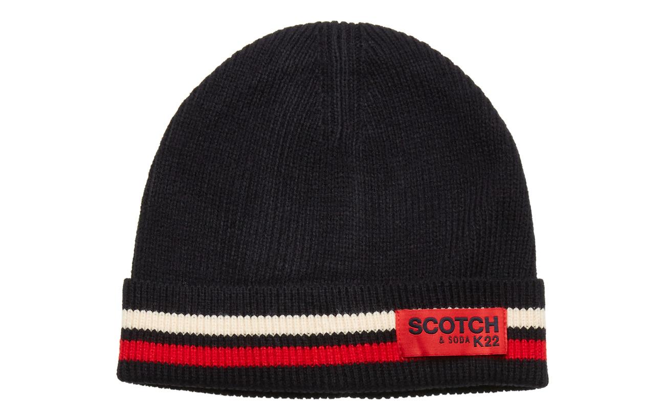 Scotch & Soda Classic rib knit beanie - NIGHT