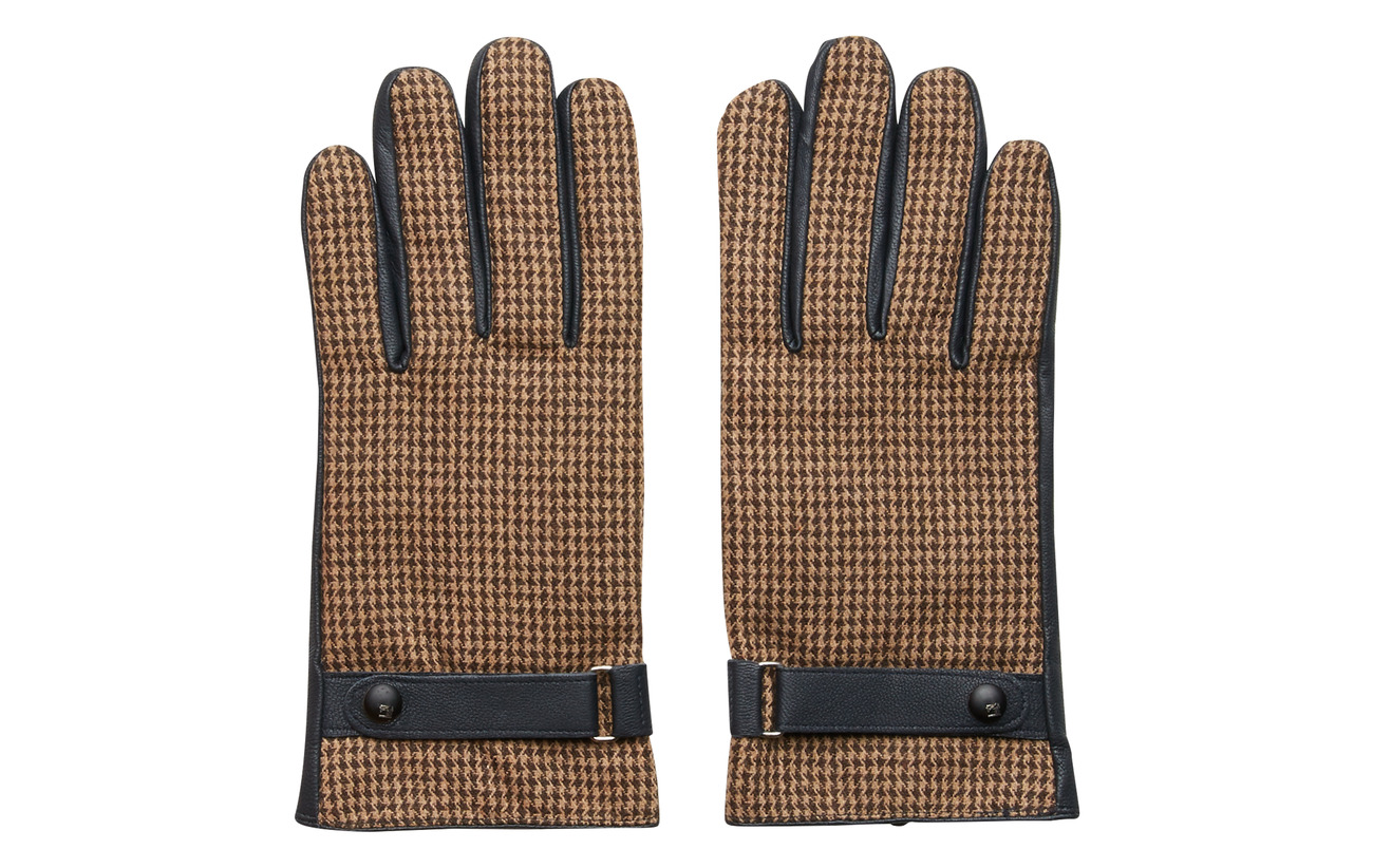Leather Classic panelled Glovescombo Soda BScotchamp; Wool wvnm0N8