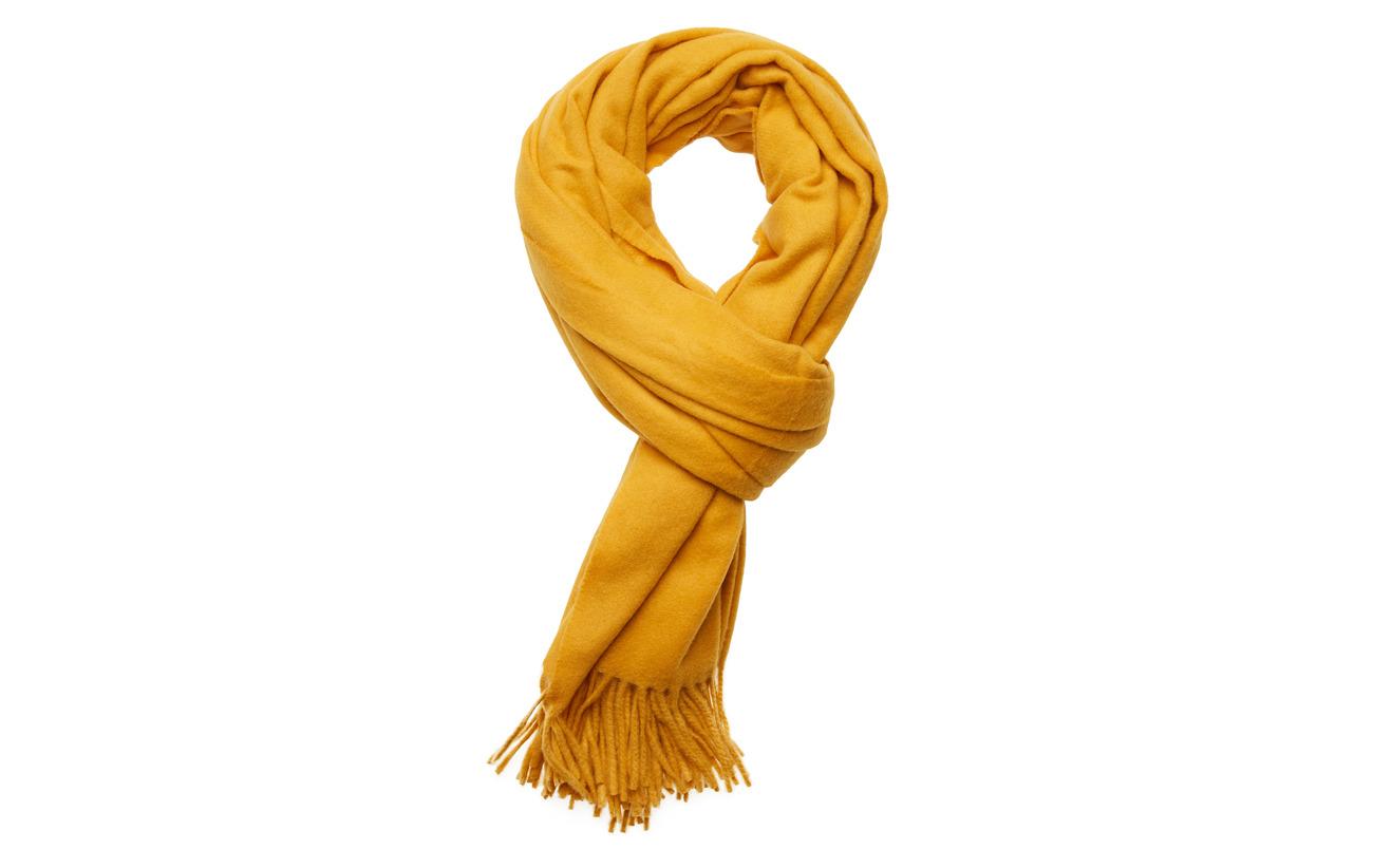 Scotch & Soda Classic wool scarf - OCHRE