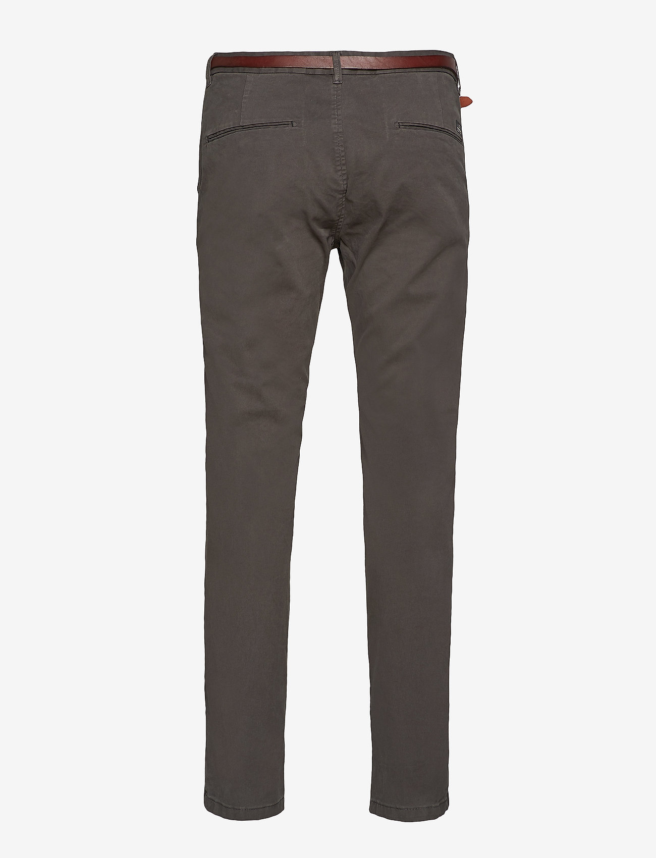 Scotch & Soda - Slim fit cotton/elastan garment dyed chino pant - chinos - charcoal - 1