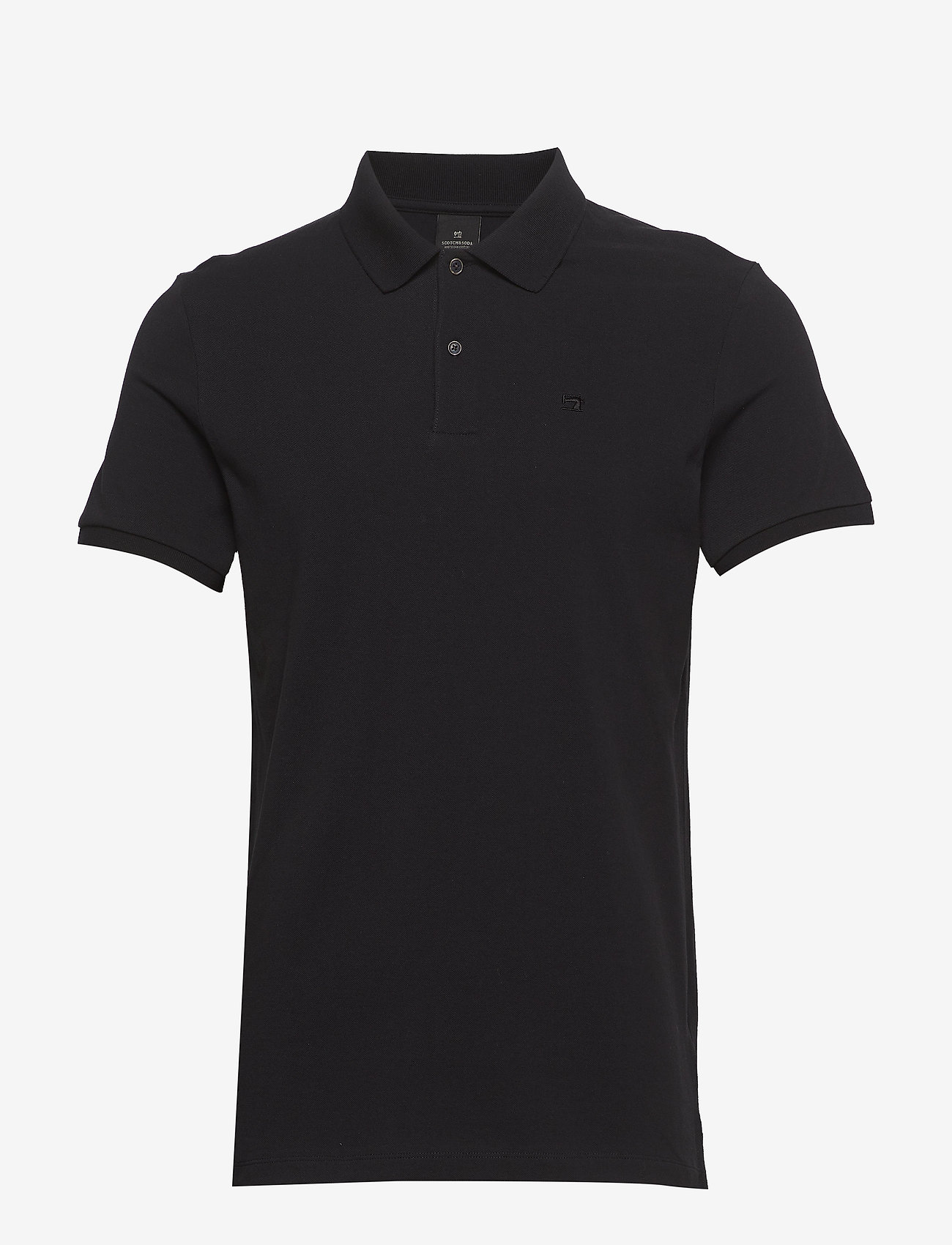 Scotch & Soda - - Classic polo in pique quality with clean outlook - short-sleeved polos - black - 0