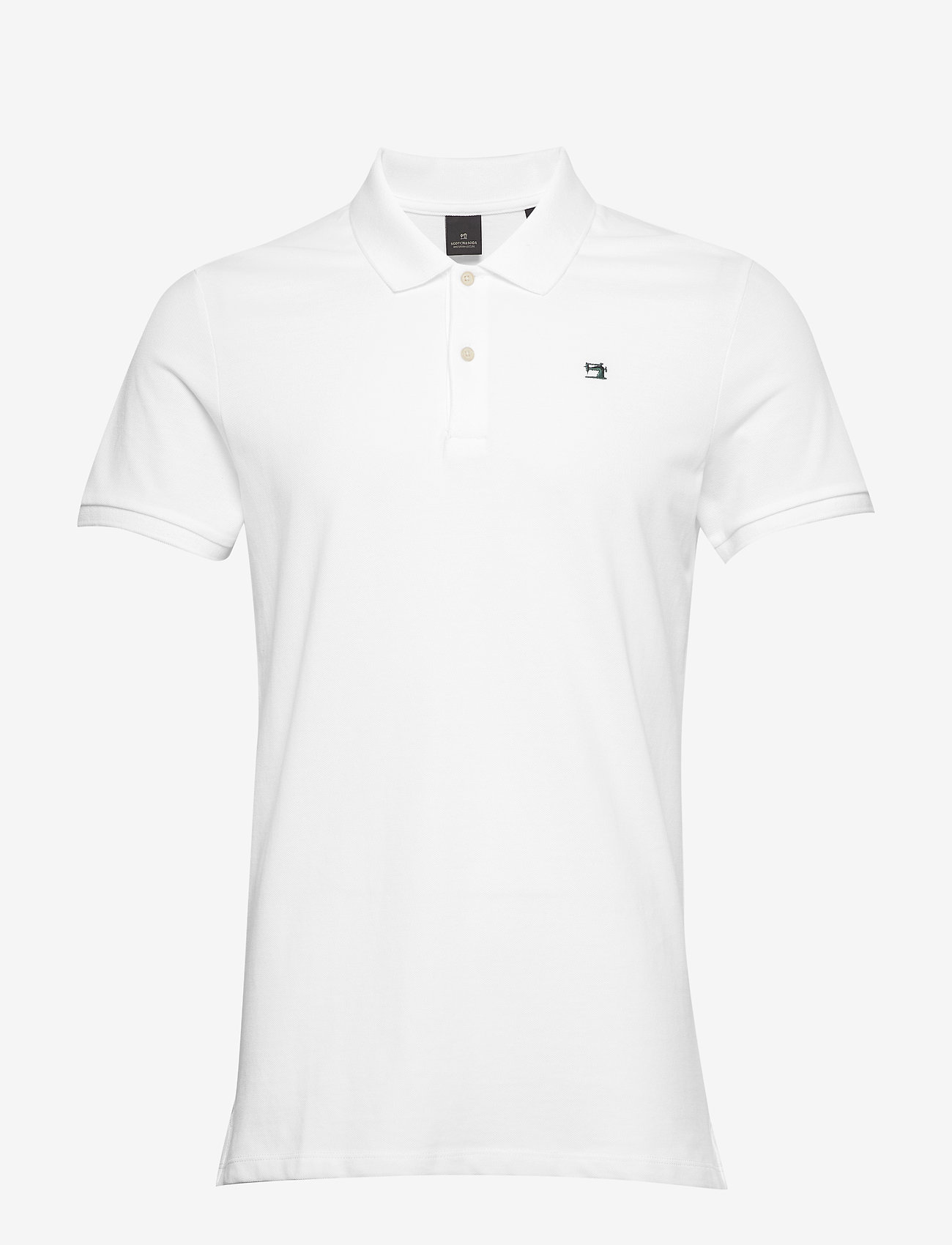 Scotch & Soda - - Classic polo in pique quality with clean outlook - short-sleeved polos - white - 0