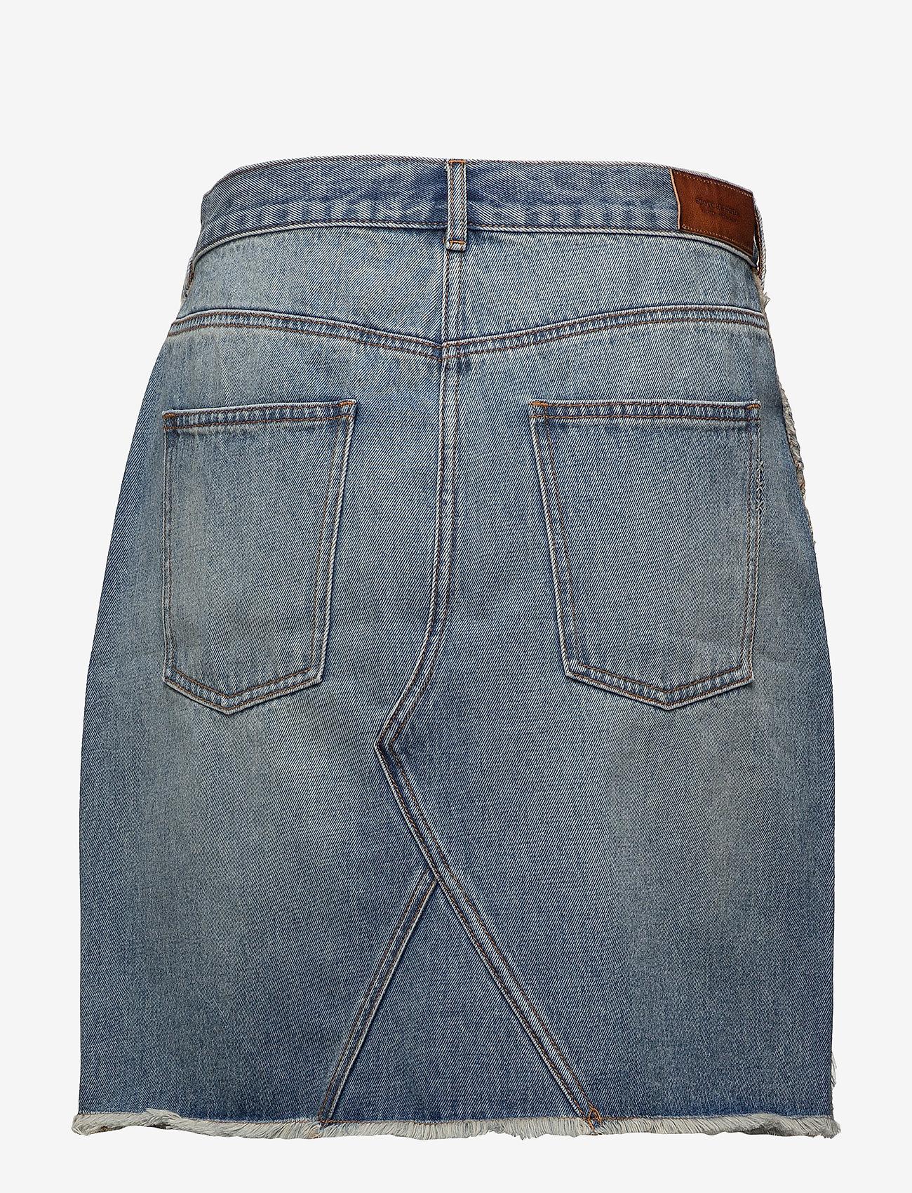 Scotch & Soda - Seasonal Denim Skirt - Customized Blauw - lyhyet - 2098 customized blauw