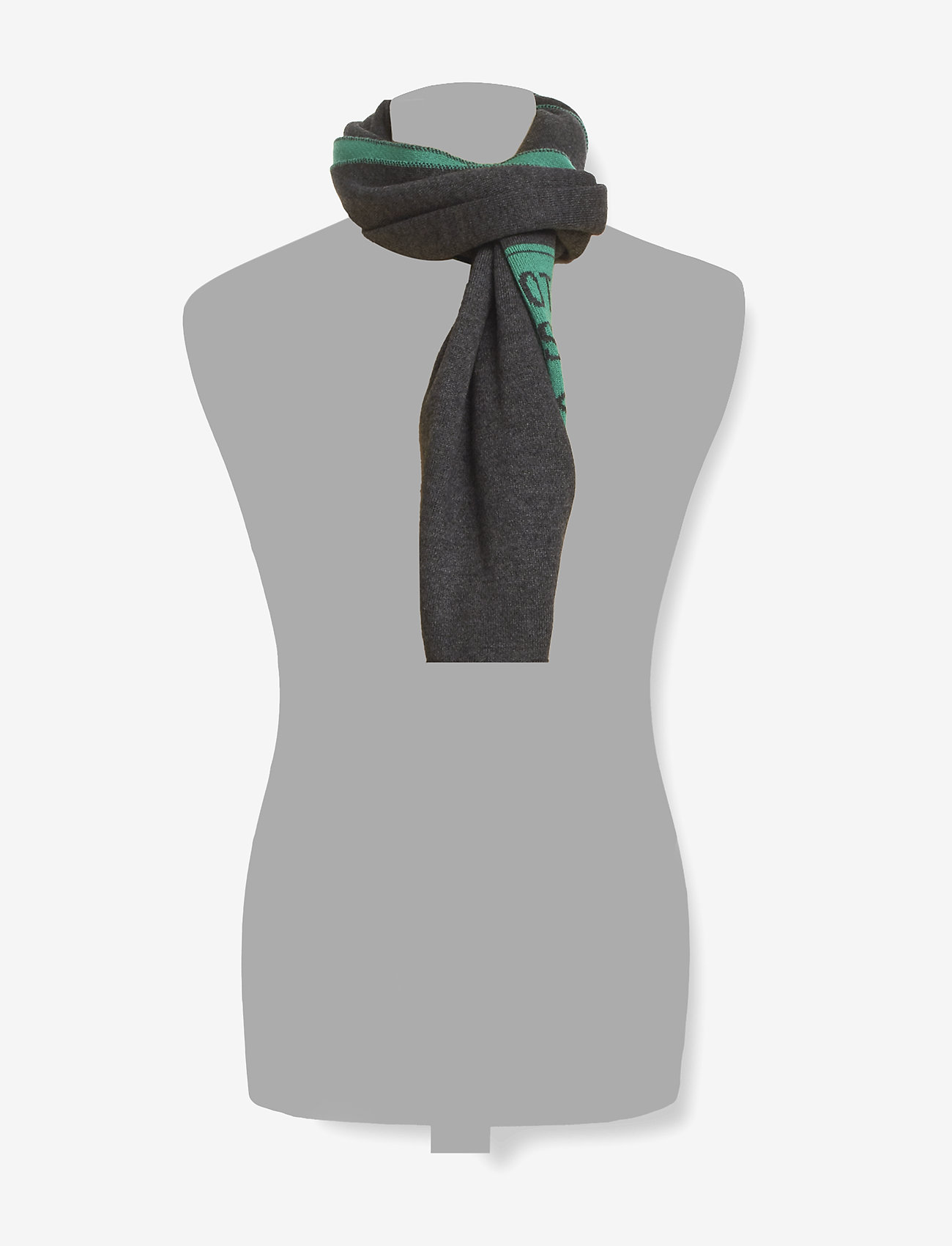 Scotch & Soda - Logo scarf in double face knit quality - scarves - combo b - 1