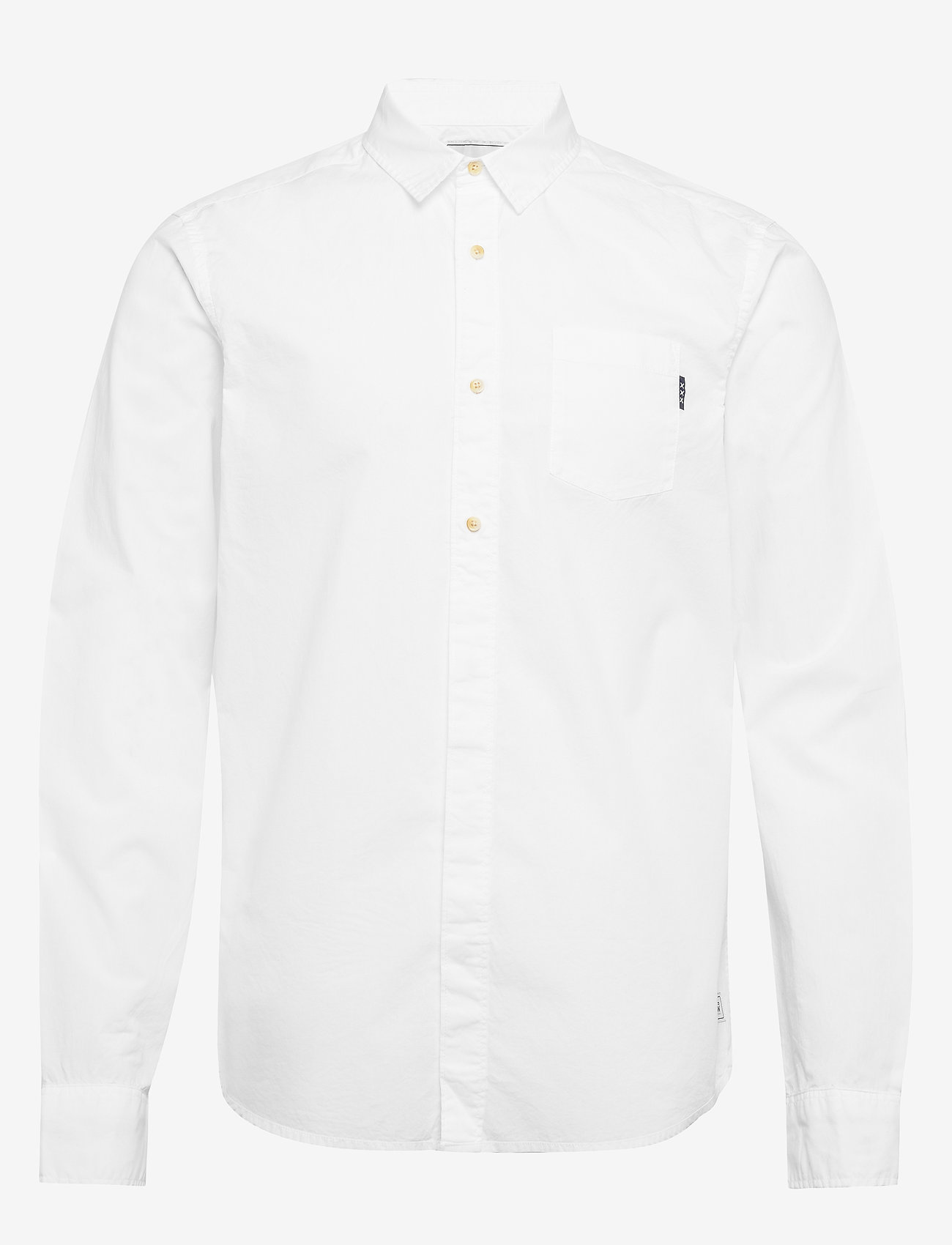 Scotch & Soda - Ams Blauw light weight shirt with contrast print details - chemises basiques - white - 0