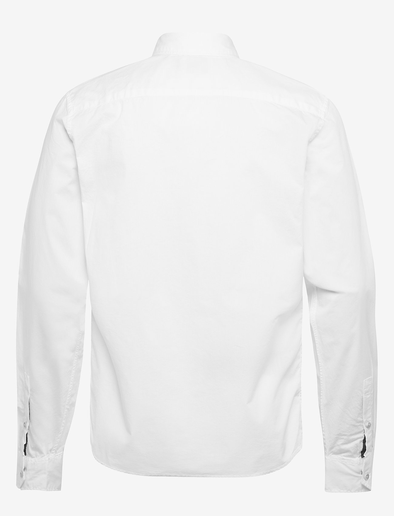 Scotch & Soda - Ams Blauw light weight shirt with contrast print details - chemises basiques - white - 1